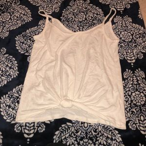 Women's white knot tank top